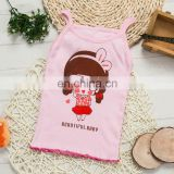 Fashion Summer children's clothing cartoon puppy girls tank top candy colored girls vest children singlet tops baby vest