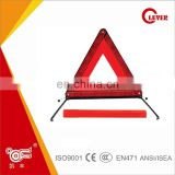 Convenient Red Triangle Traffic Safety Reflector With Metal Support
