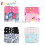 Elinfant OS suede cloth pocket diapers baby Reusable cloth diaper washable baby cloth diaper