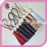 Genuine Leather Accessories Log Beads Pure Handmade Korean Wax Rope Pendant