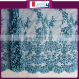 new fashion beaded french lace border with beautiful design and high quality