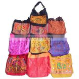 applique work embroidery mirror work bag