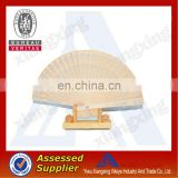 2014 high quality and fashion wooden hand fan whloesale