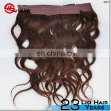 Top Quality Cheap Body Wave Brazilian Remy Fish Line Halo Hair Extension Human Hair