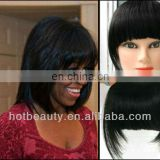 Hot beauty human hair fringe with clips, hair bang