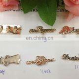 hot sell skull butterfly rose gold color metal garment accessories sew on or pin on or nail on clothing bags or shoes