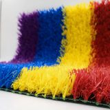 China factory red, yellow, blue, purple artificial kids grass turf rainbow runway for kindergarten school sports