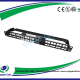 UTP Cat.6 1U 48Port empty Patch panel with back bar