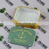 Rectangular tea dried fruit case candy cans food box tin metal tray