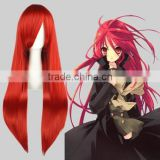 High Quality 80cm Long Straight Fairy Tail Cosplay Hair Wigs Scarlet Red wigs Synthetic Anime Wig Party Wig