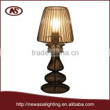 2015 goldlen supplier earn money alibaba hotcake cheaper brushed hand painted colorful metal steel iron l wires table lamp