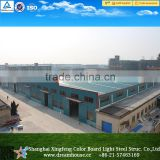 Large span galvanized steel structure warehouse shed