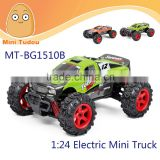 Minitudou High Speed RC Car 1:24 Scale 2.4Ghz Ratio 4WD All-Wheel-Drive Model Car MT-BG1510B Electric Mini Truck