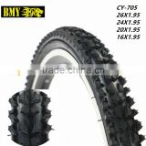 high quality bicycle tyres 20 tubeless tyres for bikes black mountain bike tires 20 for sale