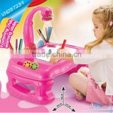 Hot Wholesale Educational Toy Kids Drawing Set Projection 4 in 1