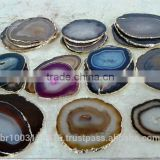 agate gold coasters