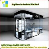 2015 hot sale levitating and rotating wine glass display cabinet modern glass display cabinet