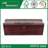 Custom High Quality Luxury Black Shiny Lacquered MDF Wooden Wine Box With Logo Printing For 1 or 2 wine and glasses, Solid Wood