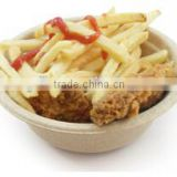 100% Biodegradable Deluxe microwavable bowls Sugarcane Fibre Catering 12oz Hot Soup Bowl Wholesale
