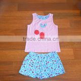 SUMMER NEW DESIGN CHILDREN FASHION SLEEVELESS VEST AND PANTS CHILDREN SETS