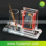Acrylic pen and card holder stand