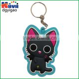 Factory wholesale cheap pvc custom rubber keychain