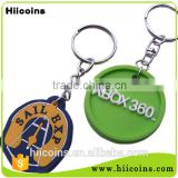 Factory Direct Selling plastic keychain Wholesale pvc keychain and custom soft pvc keychain