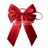high quality pre-made satin ribbon bow with two loop/polyester ribbon bow,jewelry packing/pull string ribbon bow,fancy bow