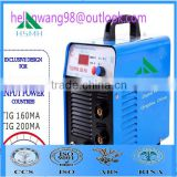 Alibaba inverter welding machine/ high frequency welding machine/ wire feeder motor/ TIG/MMA 160MA China supply