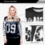 New design round neck pullover, custom sublimation high chimney collar sweatshirt