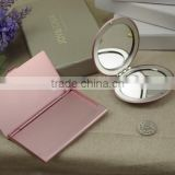 Aluminum round makeup mirror and aluminum business card holder gift set packing /wedding gift sets