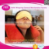 folding pvc inflatable u shaped neck pillow/car pillow for rest your neck or sleeping on traveling