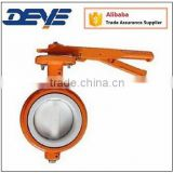 Round Body Teflon Coated Disc and Seat Short type Butterfly Valve