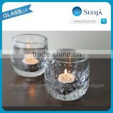 clear tealight bubble glass candle holder