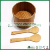 Kitchen supplies bamboo products salad bowl large bamboo bowl bamboo fork spoon bamboo salad bowl set salad bowl