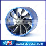 Fuel Saver double propeller racing Car Turbo Intake Fan