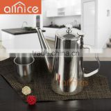 wholesale long mouth cool water kettle /stainless steel cool water pitcher /filter water kettle with lid&handle