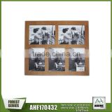 Unfinshed Multi Opening Wall Hanging Picture Photo Frame,Simple Design Decorative Photo Frame