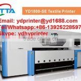 Heavy duty and fast speed roll to roll sofa fabric/curtain fabric printing machine with industrial print head