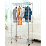 NSF Chrome home decorative metal storage shelf , wire shelves, chrome slant wire shelving