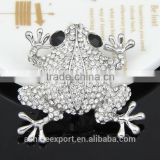 Cute animal series-exquisite bright frog rhinestone brooch/handmade brooch