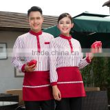 hotel housekeeping uniform customized design top quanlity restaurant hotel waitress waiter with half apron