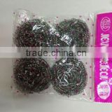 kitchen cleaning scourer ball,stainless steel scourer,washing dish mesh scourer