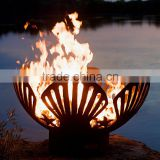 Customized Steel Firepit FP-005 Firepit Art Barefoot Beach Seashells And Starfish Fire Pit
