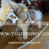 2016 Plush horse baby kids toy / valentine chrisha playful plush rocking horse