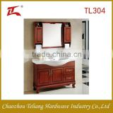 Good Quality Made in China Hot Sale Oak Solid Wood Restaurant Furiture Hotel Suits Bathroom Cabinet Vanity