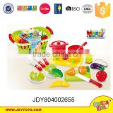 Happy kitchen cooking set toys,plastic children cutting fruit&food toy,fun educationl play toys