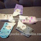Cheapest Animal sheep pattern socks wellness cute girls cotton socks China sock machine factory wholesale