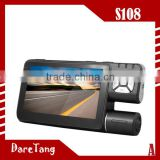 Factory Direct HD720P Ultra Clear Camera 4.3 inch TFT 120 degree gps navigator S108 car black box