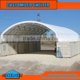 strong structure to bear heavy wind container roof cover